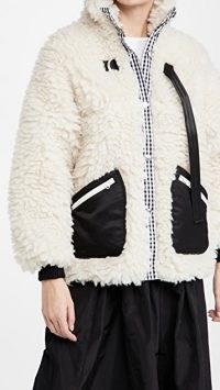 Sandy Liang Seven Fleece / faux shearling fleeces / textured jackets