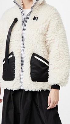 Sandy Liang Seven Fleece / faux shearling fleeces / textured jackets - flipped
