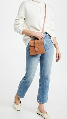 Senreve The Alunna Mini Bag ~ stylish brown crossbody - flipped