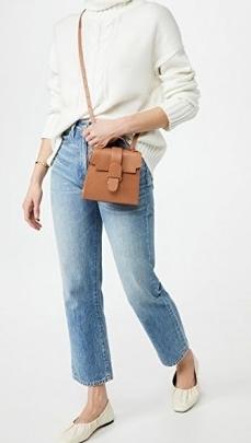 Senreve The Alunna Mini Bag ~ stylish brown crossbody