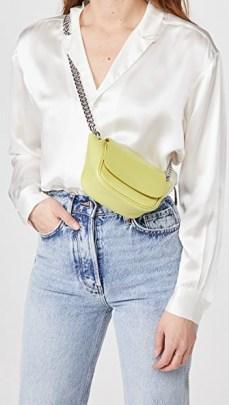Simon Miller Mini Bend Bag in Citron - flipped