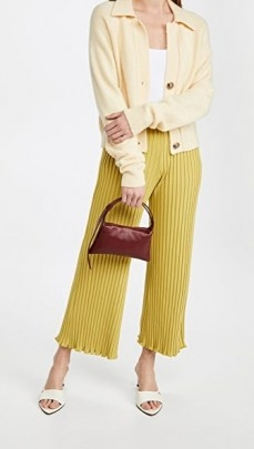 Small burgundy handbag ~ Simon Miller Mini Puffin Bag - flipped