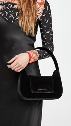 Simon Miller Retro Bag / small black velvet handbag