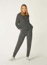 L.K. BENNETT SMITH GREY CASHMERE TROUSERS ~ luxe joggers
