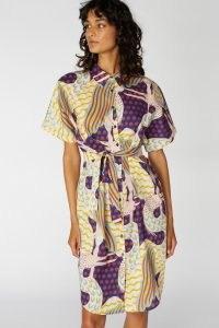 Camilla Perkins X Gorman STORK TALK KIMONO DRESS / bold bird prints / tie waist dresses