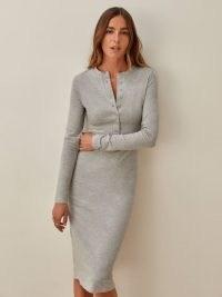 REFORMATION Stein Dress / cosy heather grey dresses / stylish comfort dressing