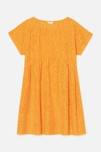 gorman STRIPEY DRESS / orange printed burnout smock dress