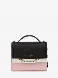 Alexander McQueen The Story Colourblock Bag | colour block handbag | top handle handbags