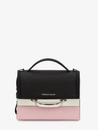 Alexander McQueen The Story Colourblock Bag | colour block handbag | top handle handbags - flipped