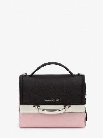 Alexander McQueen The Story Colourblock Bag | colour block handbag | top handle handbags