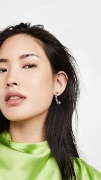 Theia Jewelry Julia Large Hoop Earrings | multi coloured cubic zirconia hoops