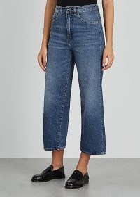 TOTÊME Blue cropped wide-leg denim jeans