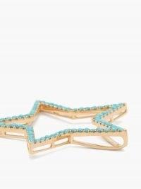 ROSA DE LA CRUZ Turquoise and 18kt gold star pendant ~ large luxe blue stone pendants ~ stars ~ fine statement jewellery