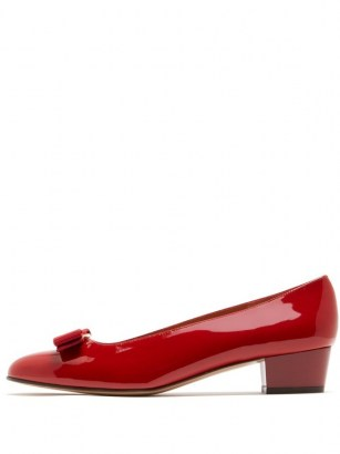 SALVATORE FERRAGAMO Vara red patent-leather pumps - flipped