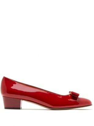 SALVATORE FERRAGAMO Vara red patent-leather pumps