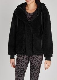 VARLEY Montalvo black faux shearling jacket / casual soft feel jackets