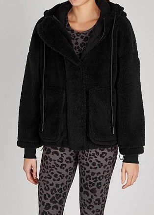 VARLEY Montalvo black faux shearling jacket / casual soft feel jackets