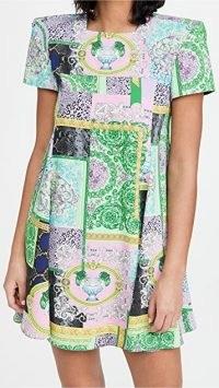 Versace Barocco Matchwork Mini Dress ~ patchwork style dresses