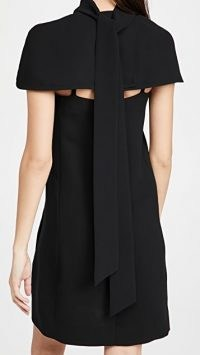 Victoria Victoria Beckham Cape Detail Soft Crepe Dress ~ LBD