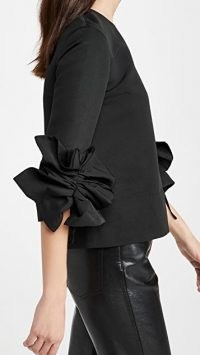 Victoria Victoria Beckham Gathered Sleeve Top ~ gather detail sleeves