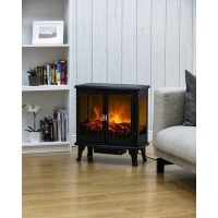 Carlisle 2-Door Panoramic Window Electric Stove by Warmlite – minimal noise thanks to the quiet motor