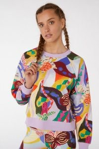 gorman WILD ORCHID SWEATSHIRT / bold floral abstract print sweatshirts