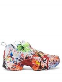VETEMENTS X Reebok The Masterpiece Instapump Fury trainers / multicoloured paint splattered trainer / designer sneakers