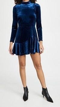 Yumi Kim Shannon Dress Navy Velvet