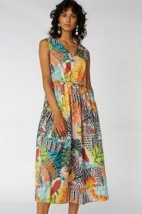 Camilla Perkins X Gorman ZEBRA TANK DRESS / colourful printed organic cotton dresses