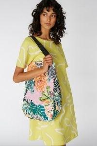Camilla Perkins X Gorman ZEBRA TOTE / animal print shoulder bags