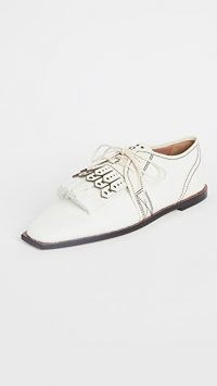 Zimmermann Lace Up Golf Shoes | fringed flats