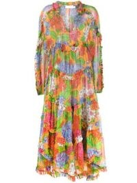 Zimmermann Riders floral ruffled dress / vibrant print dresses / ruffles