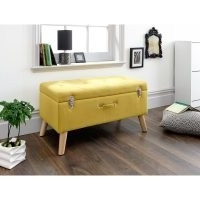 Bryzel Storage Ottoman by Zipcode Design – evokes the look and feel of a classic instrument case