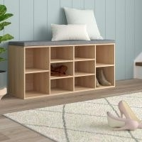 Shoes Wood Storage Bench by Zipcode Design – Reduce the clutter in your hallway