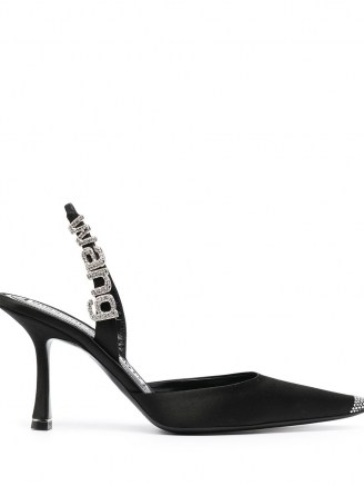 Alexander Wang Grace satin slingback pumps | black party slingbacks