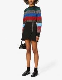 ALICE & OLIVIA Lennon wrap-over high-waist woven mini skirt