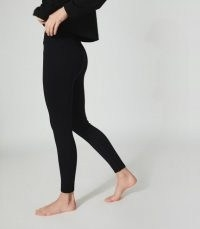 REISS ALPHA HIGH STRETCH SPORTS LEGGINGS BLACK / comfy lounge pants