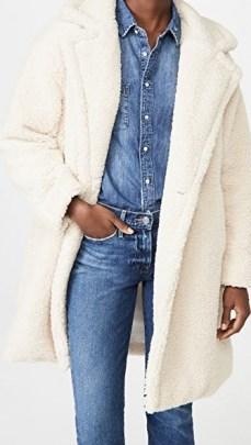 Apparis Anouck Coat / ivory sherpa coats / faux shearling outerwear - flipped