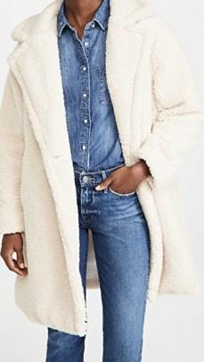 Apparis Anouck Coat / ivory sherpa coats / faux shearling outerwear