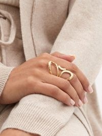 MELISSA KAYE Aria Jane 18kt gold ring / contemporary statement rings / modern jewellery