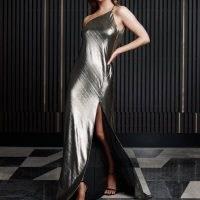 Derma Department Arielle Dress Metallic / high shine occasion dresses / evening glamour