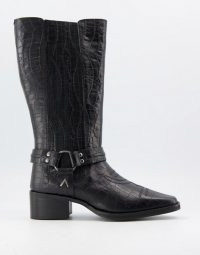 Grenson Doris chelsea calf boot in black ~ buckle detail boots