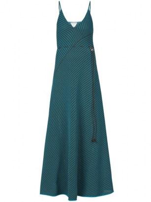 BOTTEGA VENETA Asymmetric-stripe knitted dress | spaghetti strap knit dresses