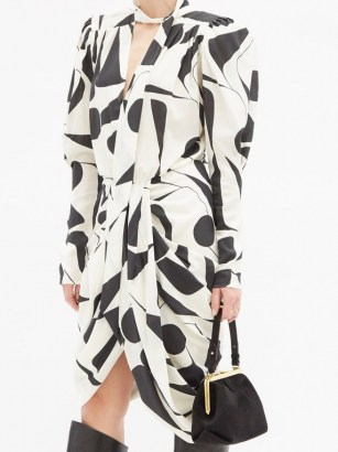SABEL MARANT Taj fringed suede cross-body bag ~ 80s style dresses ~ vintage look clothing ~ padded shoulders - flipped