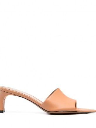 ATP Atelier Serranova pointed-toe mules in honeynut brown leather - flipped
