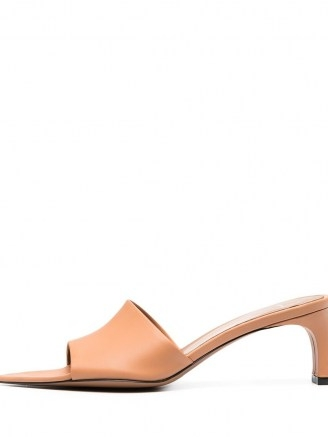 ATP Atelier Serranova pointed-toe mules in honeynut brown leather
