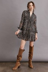 ANTHROPOLOGIE Phoebe Tunic Dress / floaty floral dresses