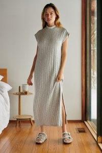 Saturday/Sunday Elisabeth Ribbed Maxi Dress ~ effortlessly stylish high neck dresses