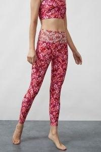 Kachel x Anthropologie Floral-Print Leggings Pink