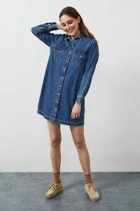 Levi's Selma Denim Mini Dress | classic blue shirt dresses